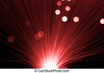 Red abstract fibre optic background. - Close up and abstract...