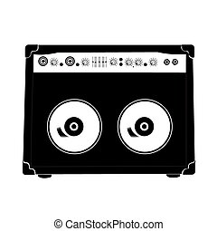 Cassette - An isolated silhouette of a cassette on a white...