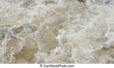Water - Fast flowing water on the river