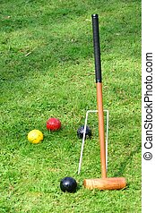 Croquet Mallet with Balls - Croquet Mallet and Balls