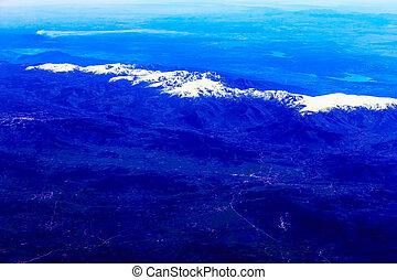 山, 航空写真, 岩が多い, 光景