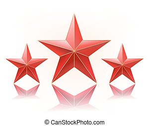 vector illustration of red stars in a row