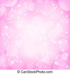 shining pink background with stars