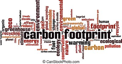 Carbon footprint Convertedeps - Carbon footprint word cloud...