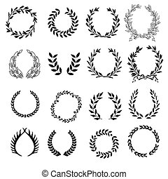 Set of laurel wreaths.