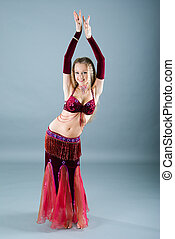 girl in belly dance dress - Fashion girl in belly dance...