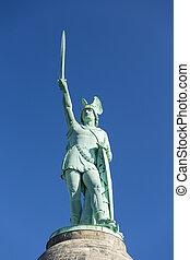 Hermannsdenkmal in Detmold, Germany - The famous...