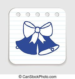 Christmas Jingle Bells. - Doodle icon of Christmas Jingle...