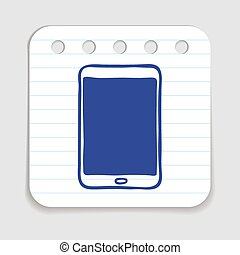 Doodle Tablet Touch Pad Icon - Doodle Tablet Touch Pad PC...
