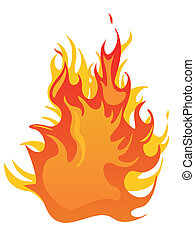 fire - flames - vector illustration of an isolated fire