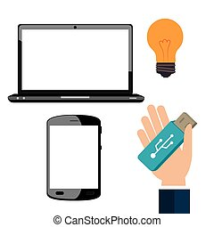 Universal Serial Bus graphic design, vector illustration...