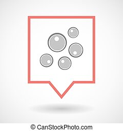 Isolated tooltip line art icon with oocytes - Illustration...