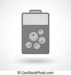 Isolated battery icon with oocytes - Illustration of an...