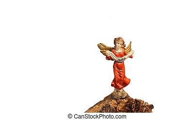 angelo, Simbolo, pace, scritto,  Gloria, statua, speranza
