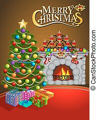 illustration Christmas greeting card with candles Christmas...