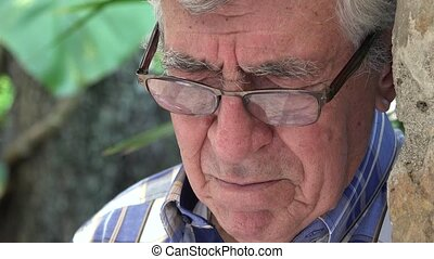 Elderly Man Sad and Lonely