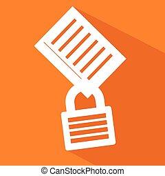 Private document icon - Creative design of Private document...
