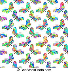 Butterfly pattern - Seamless pattern of the motley...