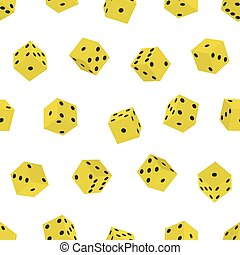 Dice pattern - Seamless pattern of the dice cubes