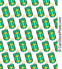 Dynamite pattern - Seamless pattern of the dynamite stick...