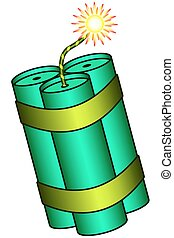 Dynamite - Illustration of the dynamite stick bunch icon