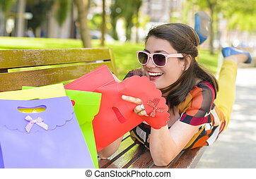 Satisfied Customer Enjoying Shopping