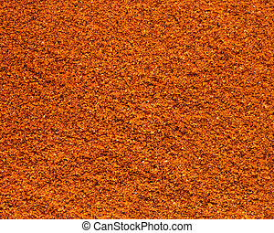 Cayenne pepper powder background.