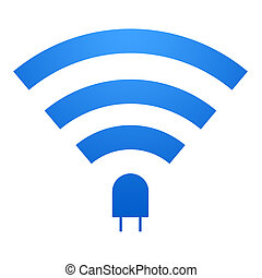 Li-Fi Icon - Li-Fi icon design. Li-Fi zone sign. isolated on...