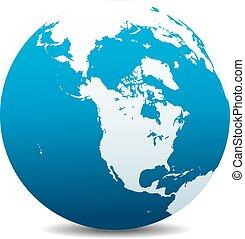 Canada, North America, World Globe - Canada, North America,...