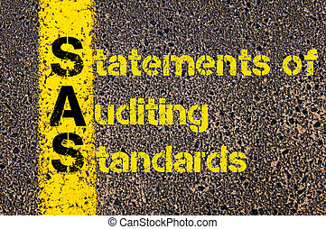 Accounting Business Acronym SAS Statements of Auditing...