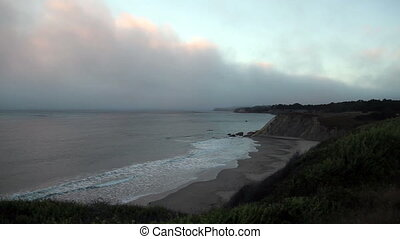 Northern California Coast Line - Cloudy Seascape Northern...