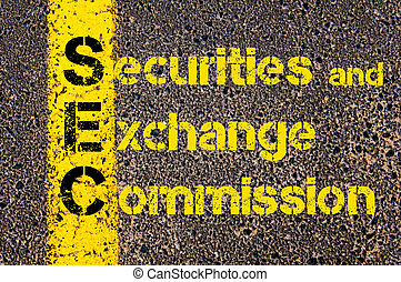 Accounting Business Acronym SEC Securities and Exchange...