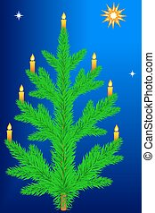 Christmas tree - Illustration of the Christmas tree