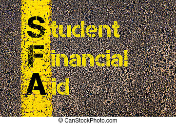 Accounting Business Acronym SFA Student Financial Aid -...