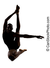 Silhouette of Flexible Male Dancer - Silhouette of a...