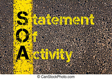 Accounting Business Acronym SOA Statement Of Activity -...