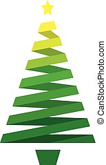 stripped abstract christmas tree