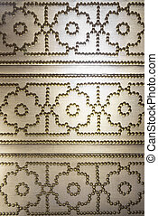 Studded Cloth - Canvas Textile Material with Brass Studs in...