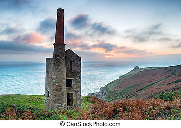 Wheal Prosper Tin Mine - Wheal Prosper tin mine at Rinsey on...
