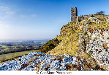 Brentor on Dartmoor - The tiny church at the top of Brentor...