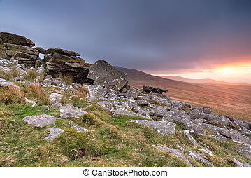 Stormy Skies over Dartmoor