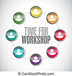 Time for workshop people connection