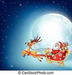 Illustration of happy Santa - Vector illustration of happy...