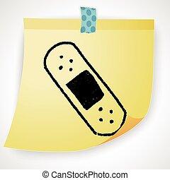 adhesive bandage doodle drawing