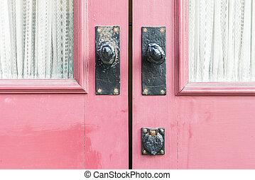 Door handles - Old Door handles decoration exterior of home