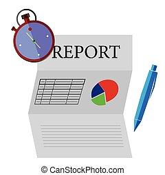 Financial Report Dateline - Vector Financial Report Dateline...