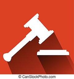 Flat Icon Hammer of Judge  - Vector Hammer of Judge