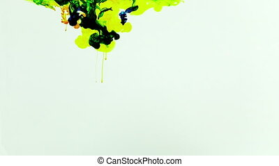Abstract Ink Paint Art Blend Colorful Splash in Underwater