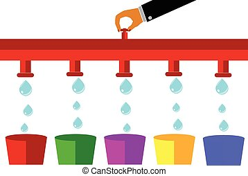 illustration for cost control - Money Drop, illustration for...