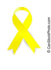 Vector Yellow Ribbon at white